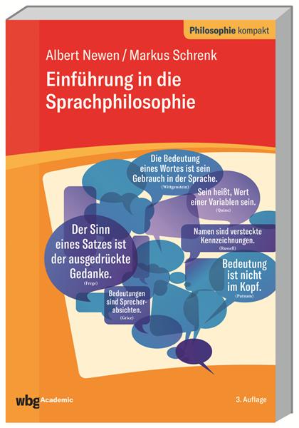 Einfuhrung In Die Sprachphilosophie Von Dr Albert Newen Buch Wbg Wissen Verbindet