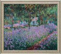 Claude Monet: Bild 'Irisbeet in Monets Garten' (1900), gerahmt